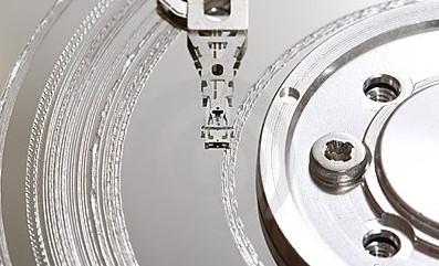hard disk graffiato