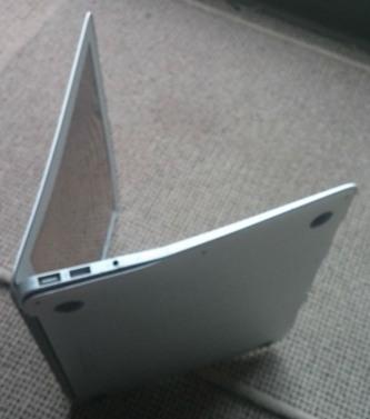 notebook apple caduto