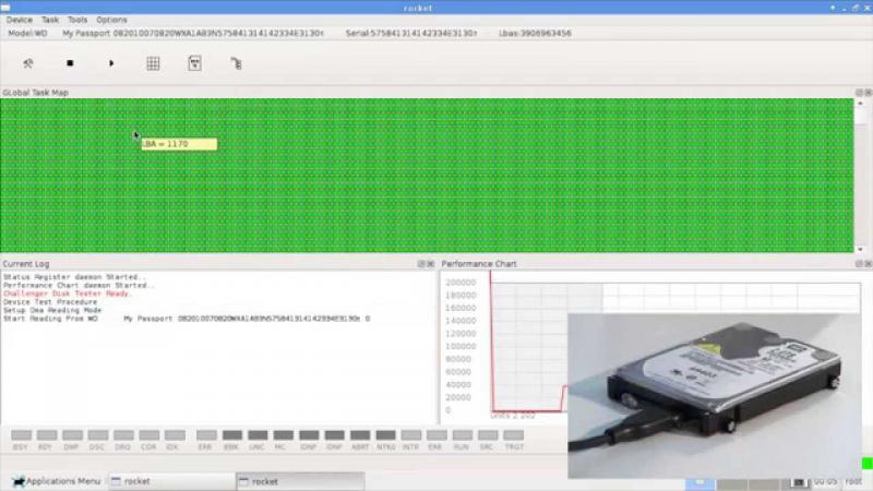 Recupero dati lettura superficie magnetica hard disk Western Digital