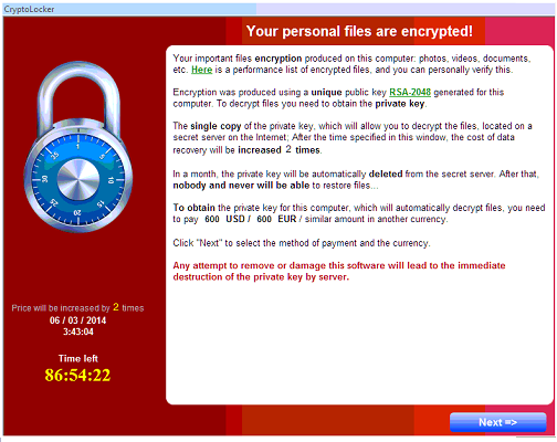 file criptati da cryptolocker